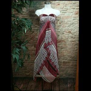BCBG Paris Dresses - BCBG Paris Layered Scarf Halter Dress